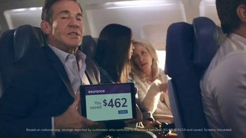 Esurance TV Spot, 'The Middle Seat' Featuring Dennis Quaid - Thumbnail 5