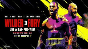 ESPN+ TV Spot, 'Wilder vs. Fury II'