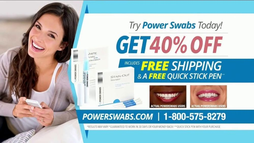 Power Swabs TV Commercial, 'Coffee Smile: Freebies'