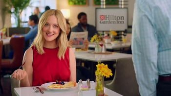 Hilton Garden Inn TV Spot, 'Judy Eats Breakfast' Featuring Judy Greer - Thumbnail 4