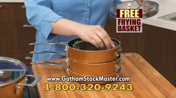 Gotham Steel Stack Master Cookware TV Spot, 'Get Your Space Back: 17 Piece Collection' - Thumbnail 9