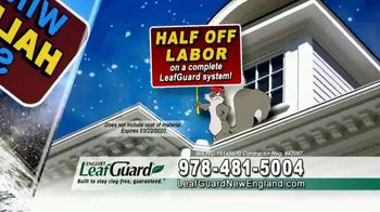 LeafGuard of New England Winter Half Off Sale TV Spot, 'Give up Gutter Cleaning Forever' - Thumbnail 5
