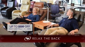 Relax the Back TV Spot, \'Holidays: The Gift of Ultimate Relaxation\'