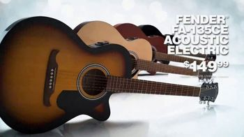 Guitar Center TV Spot, 'Holidays: Fender Acoustic Electric and Ibanez RG Series Guitars' Song by Lookas - Thumbnail 4