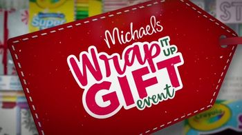 Michaels Wrap It up Gift Event TV Spot, 'Kids' Gifts, Art Supplies, and Wrapping' - Thumbnail 1
