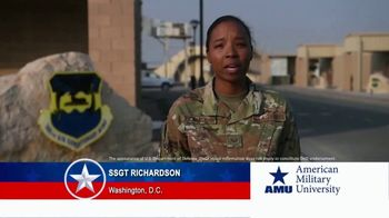 American Military University TV Spot, 'Holiday Greetings: SSgt Richardson'