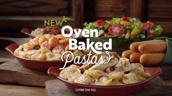 Olive Garden Oven Baked Pastas TV Spot, 'Smoked Mozzarella Shrimp Rigatoni: Behold' - Thumbnail 8