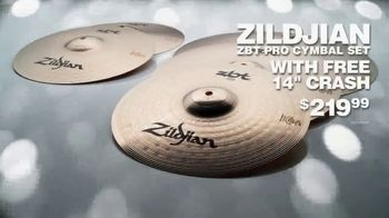 Guitar Center TV Spot, 'Great GIfts: SPL Drum Set and Zildjian Cymbal Set' - Thumbnail 9
