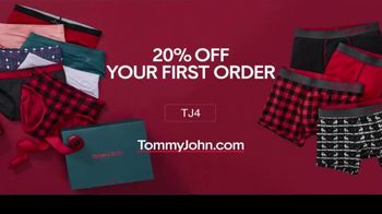 Tommy John TV Spot, 'Holidays: 20 Percent Off First Order'