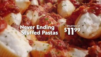 Olive Garden Never Ending Stuffed Pastas TV Spot, 'Never Ending-er' - Thumbnail 4