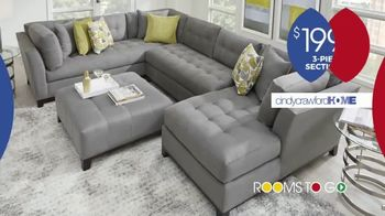 Rooms to Go Anniversary Sale TV Spot, 'Cindy Crawford Three-Piece Sectional' Song by Junior Senior - Thumbnail 3