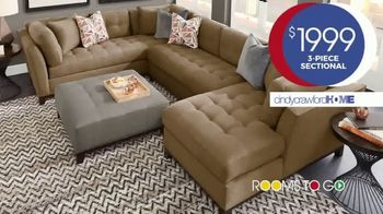 Rooms to Go Anniversary Sale TV Spot, 'Cindy Crawford Three-Piece Sectional' Song by Junior Senior - Thumbnail 4