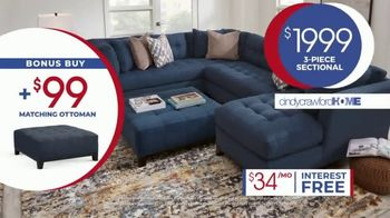 Rooms to Go Anniversary Sale TV Spot, 'Cindy Crawford Three-Piece Sectional' Song by Junior Senior - Thumbnail 5