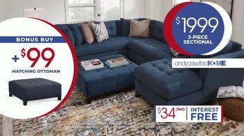 Rooms to Go Anniversary Sale TV Spot, 'Cindy Crawford Three-Piece Sectional' Song by Junior Senior - Thumbnail 6