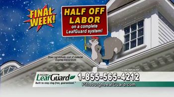 LeafGuard of Pittsburgh Winter Half Off Sale TV Spot, 'Clogged Gutters: Gift Cards' - Thumbnail 1