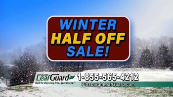 LeafGuard of Pittsburgh Winter Half Off Sale TV Spot, 'Clogged Gutters: Gift Cards' - Thumbnail 7