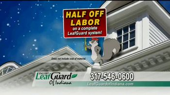 LeafGuard of Indiana Winter Half Off Sale TV Spot, 'Constant Battle: Gift Cards' - Thumbnail 7