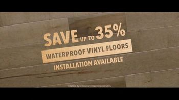 Lumber Liquidators TV Spot, 'Waterproof Luxury Flooring: Save up to 35 Percent Off' Song by Electric Banana - Thumbnail 9