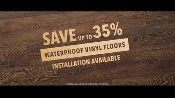 Lumber Liquidators TV Spot, 'Waterproof Luxury Flooring: Save up to 35 Percent Off' Song by Electric Banana - Thumbnail 8