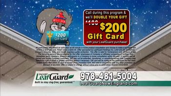 LeafGuard of New England Winter Half Off Sale TV Spot, 'Sagging Gutters: Gift Cards' - Thumbnail 6
