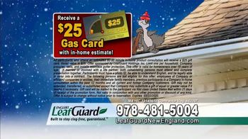 LeafGuard of New England Winter Half Off Sale TV Spot, 'Sagging Gutters: Gift Cards' - Thumbnail 7