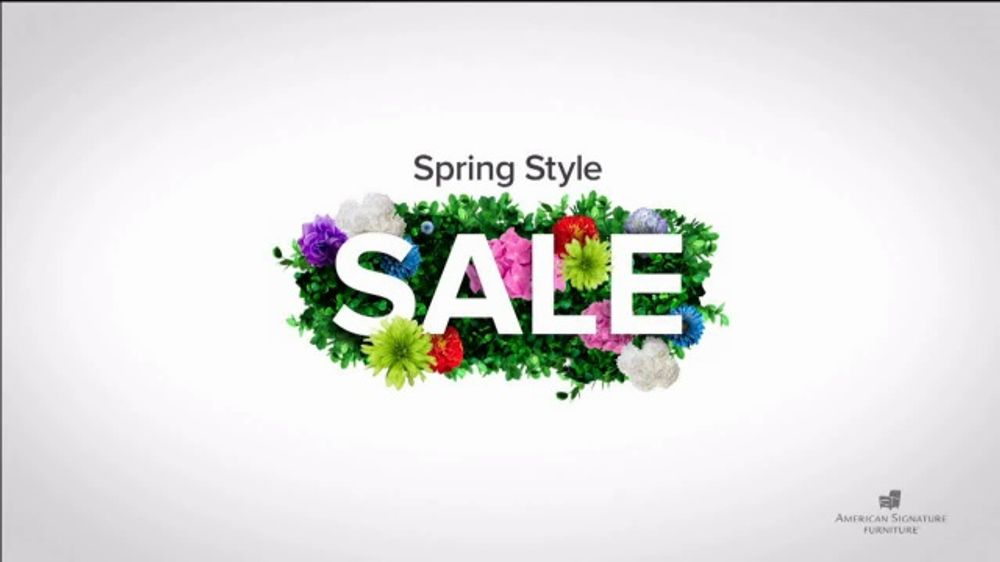 American Signature Furniture Spring Style Sale TV Commercial, 'Doorbusters'