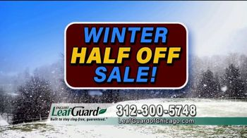 LeafGuard of Chicago Winter Half Off Sale TV Spot, 'Old Open-Top Gutters: Gift Cards' - Thumbnail 6