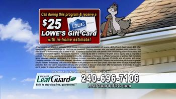 LeafGuard of DC 99 Cent Install Sale TV Spot, 'What's in Your Gutters: $25 Lowe's Gift Card' - Thumbnail 9