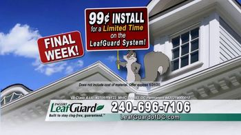 LeafGuard of DC 99 Cent Install Sale TV Spot, 'What's in Your Gutters: $25 Lowe's Gift Card' - Thumbnail 5