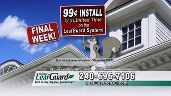 LeafGuard of DC 99 Cent Install Sale TV Spot, 'What's in Your Gutters: $25 Lowe's Gift Card' - Thumbnail 6