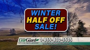 LeafGuard of Nashville Winter Half Off Sale TV Spot, 'Sagging Gutters: Gift Cards' - Thumbnail 7
