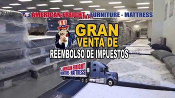 American Freight Gran Venta de Reembolso de Impuestos TV Spot, 'Juegos de colchones' [Spanish]