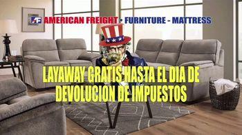 American Freight Gran Venta de Reembolso de Impuestos TV Spot, 'Precios bajos' [Spanish]