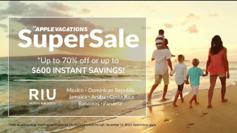 Apple Vacations Super Sale TV Commercial, 'Take You There: RIU Hotels & Resorts'