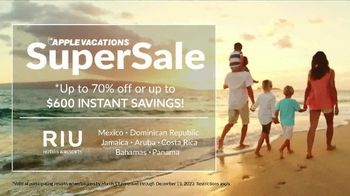 Apple Vacations Super Sale TV Spot, 'Take You There: RIU Hotels & Resorts' - Thumbnail 9