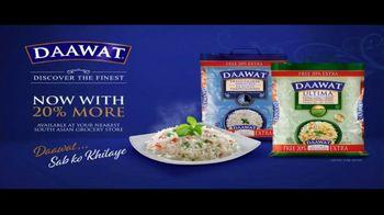 Daawat Basmati Rice TV Spot, '20 Percent More'