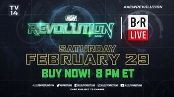 Bleacher Report Live TV Spot, 'AEW: Revolution' - Thumbnail 9