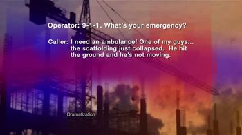 Law Offices of Michael A. DeMayo TV Spot, '911 Call: Workplace Injury' - Thumbnail 2