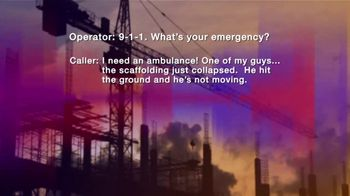 Law Offices of Michael A. DeMayo TV Spot, '911 Call: Workplace Injury' - Thumbnail 3
