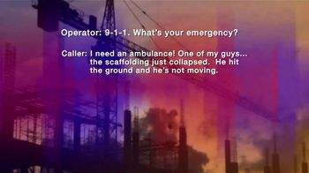 Law Offices of Michael A. DeMayo TV Spot, '911 Call: Workplace Injury' - Thumbnail 4