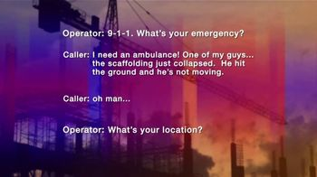 Law Offices of Michael A. DeMayo TV Spot, '911 Call: Workplace Injury' - Thumbnail 5