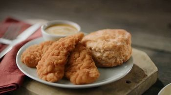 Bojangles' 3-Piece Chicken Supremes Snack and 2-Piece Dinner TV Spot, 'Two Birds With One Stone' - Thumbnail 2