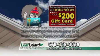 LeafGuard of North Georgia Winter Half Off Sale TV Spot, 'Hanging Out: Gift Cards' - Thumbnail 7