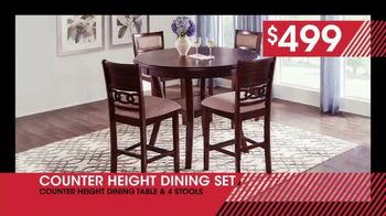 Rooms to Go January Clearance Sale TV Spot, 'Counter Height Dining Set: $499' - Thumbnail 3