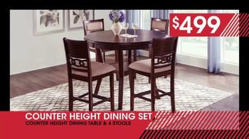 Rooms to Go January Clearance Sale TV Spot, 'Counter Height Dining Set: $499' - Thumbnail 4