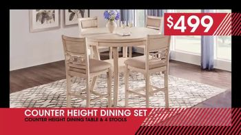 Rooms to Go January Clearance Sale TV Spot, 'Counter Height Dining Set: $499' - Thumbnail 5