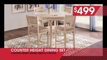 Rooms to Go January Clearance Sale TV Spot, 'Counter Height Dining Set: $499' - Thumbnail 6