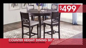 Rooms to Go January Clearance Sale TV Spot, 'Counter Height Dining Set: $499' - Thumbnail 7