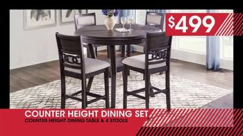 Rooms to Go January Clearance Sale TV Spot, 'Counter Height Dining Set: $499' - Thumbnail 8