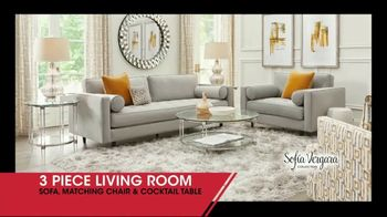 Rooms to Go January Clearance Sale TV Spot, 'Three Piece Living Room'